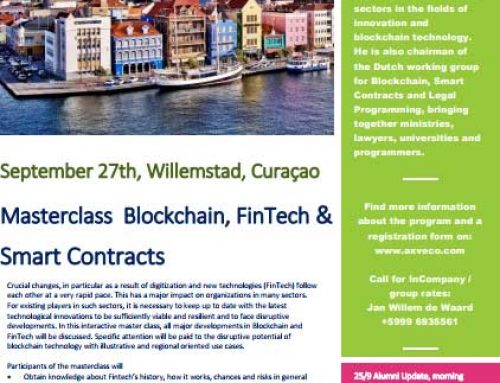 September 27th, Masterclass Blockchain, Fintech & Smart Contract